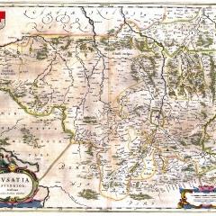 Mapa Górnych Łużyc wybitnego mieszkańca Görlitz Bartholomäusa Scultetusa – burmistrza, kartografa, matematyka i astronoma (arch. A. Lipin)